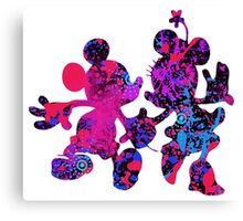 Mouse Abstract Design Canvas Print