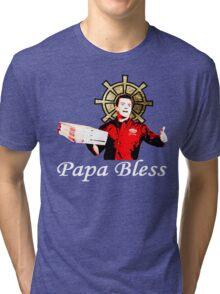 Papa Bless Alt. - ONE:Print Tri-blend T-Shirt