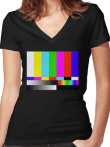 Test Tee Two Women's Fitted V-Neck T-Shirt