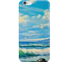 the sea with seagulls iPhone Case/Skin