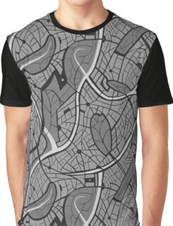 Hand drawn motif of city's map Graphic T-Shirt