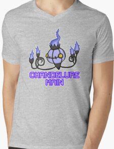 Chandelure Pixel Art Design Mens V-Neck T-Shirt