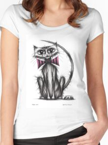 Fab cat Women's Fitted Scoop T-Shirt