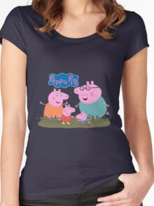 Peppa Pig Women's Fitted Scoop T-Shirt