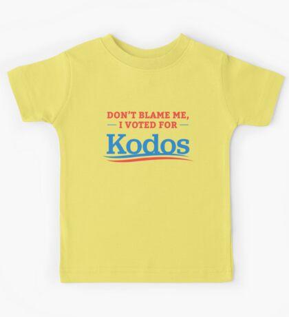 Don't Blame Me I Voted For Kodos Shirt Kids Tee
