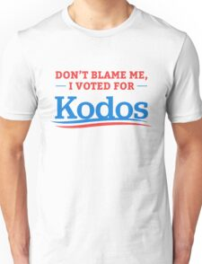 Don't Blame Me I Voted For Kodos Shirt Unisex T-Shirt