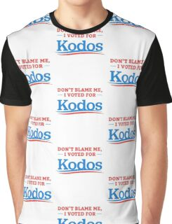 Don't Blame Me I Voted For Kodos Shirt Graphic T-Shirt