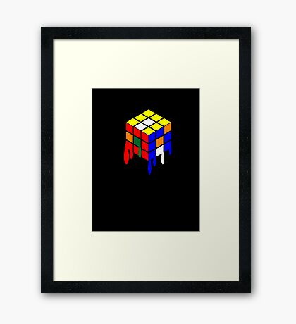 Dripping Cube Framed Print