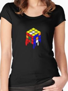 Dripping Cube Women's Fitted Scoop T-Shirt