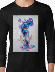Mermaid in Space, SpaceMermaid - Original Wall Modern Abstract Art Painting Long Sleeve T-Shirt