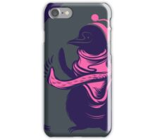 Little cute penguin with scarf and hat. iPhone Case/Skin