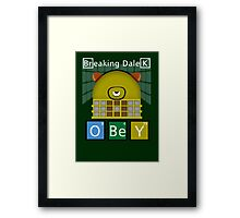 Breaking Dalek Framed Print