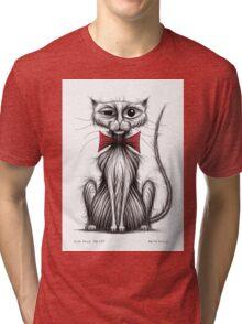 Fish face the cat Tri-blend T-Shirt