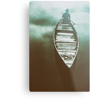 Fisher an on a boat _ edited version Metal Print