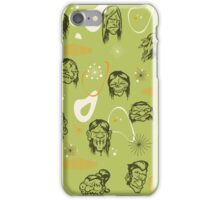 Shrunken Heads Retro Pattern iPhone Case/Skin