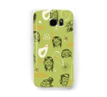 Shrunken Heads Retro Pattern Samsung Galaxy Case/Skin