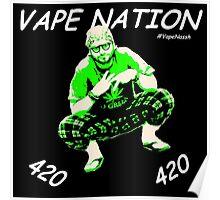 Vape Nation Fresh White 100% Organic Plastic Tee - ONE:Print Poster