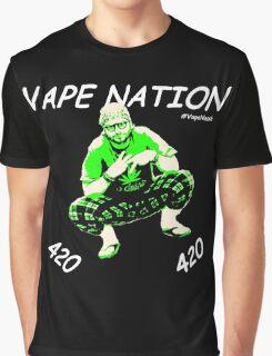 Vape Nation Fresh White 100% Organic Plastic Tee - ONE:Print Graphic T-Shirt