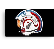 Rebel Alliance pilot helmet Canvas Print