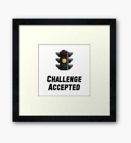 Challenge Accepted Light Framed Print