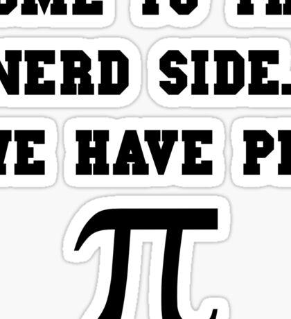 Nerd Side Pi Sticker