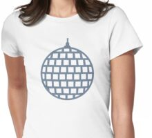 Mirror ball Womens Fitted T-Shirt