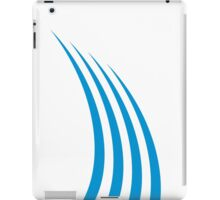 Abstract blue lines iPad Case/Skin