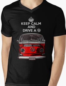 Keep Calm and Drive a VW _blank version Mens V-Neck T-Shirt