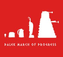 Dalek March of Progress White One Piece - Short Sleeve