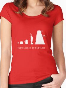 Dalek March of Progress White Women's Fitted Scoop T-Shirt