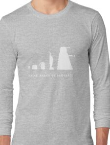 Dalek March of Progress White Long Sleeve T-Shirt