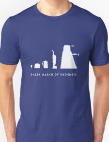 Dalek March of Progress White Unisex T-Shirt