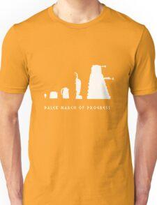 Dalek March of Progress White Unisex T-Shirt