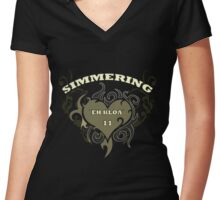 Österreich T-Shirts / Wien Simmering  Women's Fitted V-Neck T-Shirt