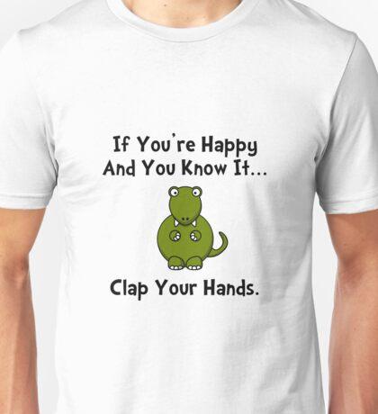 TRex Clap Your Hands Unisex T-Shirt