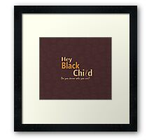 Black Child Collection Framed Print