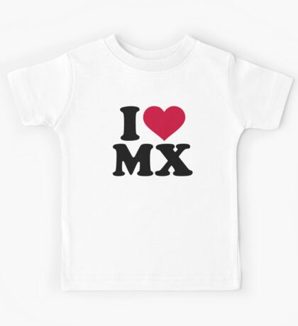 I love MX Motocross Kids Tee