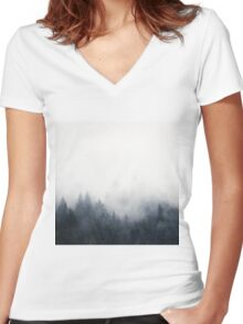I Don't Give A Fog Women's Fitted V-Neck T-Shirt