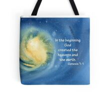 The Beginning- Genesis 1:1 Tote Bag