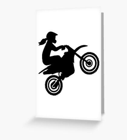 Motocross girl woman Greeting Card