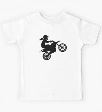 Motocross girl woman Kids Tee