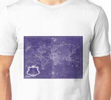 World Map (1778) Blue & White Unisex T-Shirt