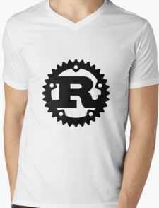 Rust Mens V-Neck T-Shirt
