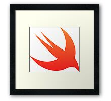 Swift Programming logo Framed Print