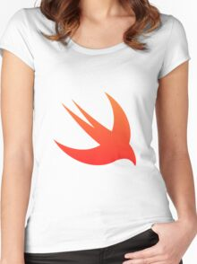 Swift Programming logo Women's Fitted Scoop T-Shirt