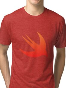Swift Programming logo Tri-blend T-Shirt
