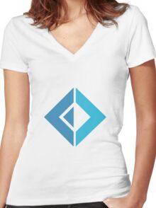 F# Fsharp logo Women's Fitted V-Neck T-Shirt