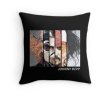Johnny Depp Characters Throw Pillow