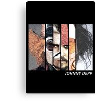 Johnny Depp Characters Canvas Print