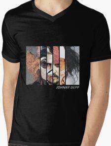 Johnny Depp Characters Mens V-Neck T-Shirt